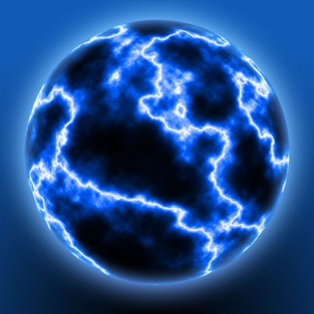 An abstract illustration of a ball of lighning