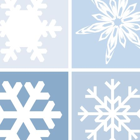 An illustration of snowflakes