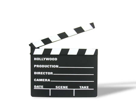 A photo of a Hollywood moviw clapboard