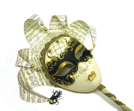 音楽をテーマにした芸術的なマスクの写真