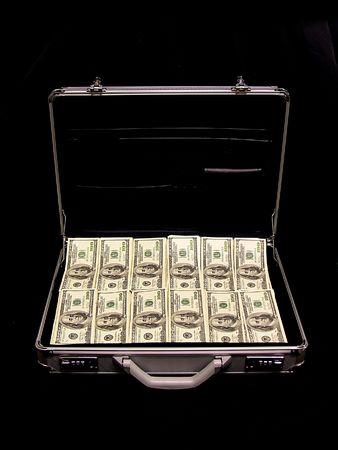 hundreds: A briefcase full of cash