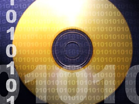 Een foto van een computer schijf Stockfoto - 366846