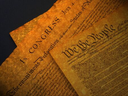 allegiance: A photo of old historical documents Stock Photo