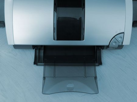 A photo of a computer printer Zdjęcie Seryjne