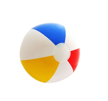 to inflate: A photo of an isolated beach ball
