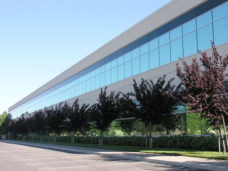 A photo of an office building