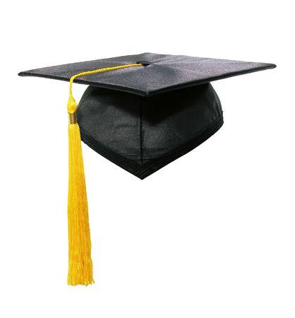 Una foto de una graduación de la tapa y tassle  Foto de archivo