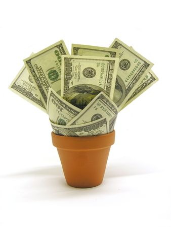 planter: A photo of money in a planter Stock Photo