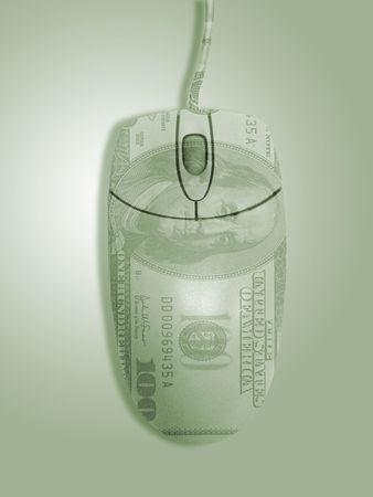 100 ドルのオーバーレイを使ってコンピューターのマウス