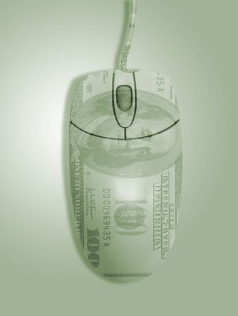 Computer Mouse with 100 dollar overlay Imagens