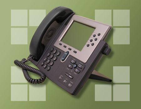 Een foto van een high-tech bedrijf telefoon