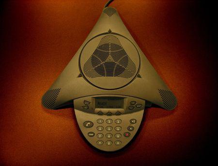 Een foto van een zakelijke telefoon in een bedrijf Stockfoto