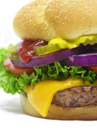 A photo of a big cheeseburger Stock Photo - 408869