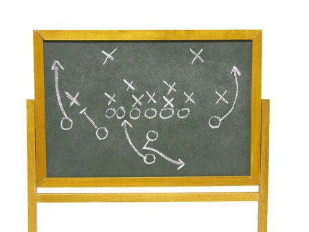 Football strategy on the chalkboard