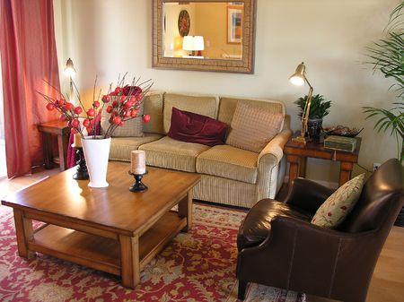 Living room interior inside a residence