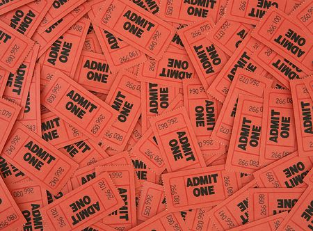 Admit One Ticket Background Archivio Fotografico