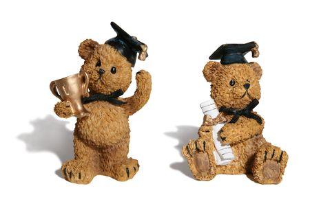 doctorate: Graduation bears Stock Photo