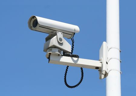 Security camera in the sky Stock Photo - 477299