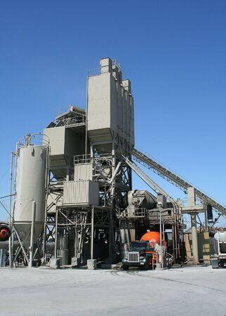 Cemento fabbrica camion con il cemento