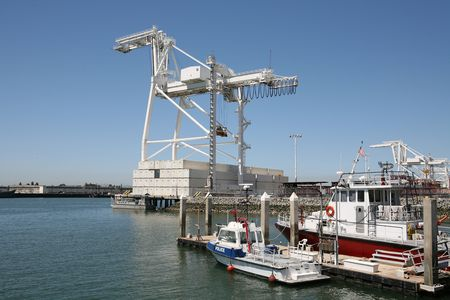 Large crane at a sea port