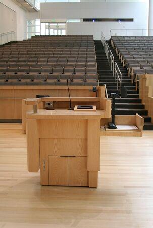 Podium in auditorium Stok Fotoğraf