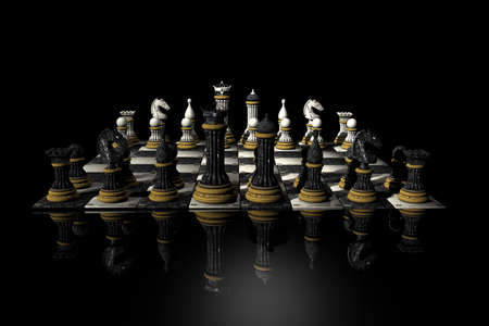 3D chess render photo