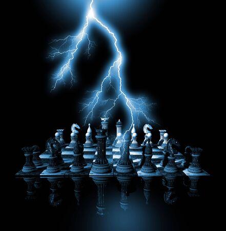 3D chess render Stock fotó