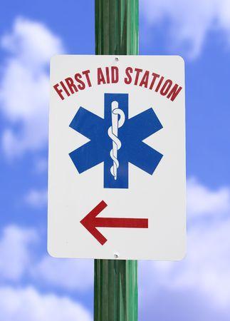 Premiers secours signe  Banque d'images - 484288