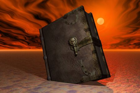 Book in hell atmosphere