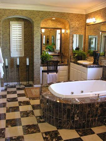 A luxurious bathroom interior