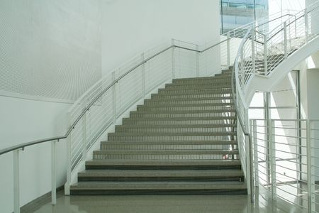 Stairs in coporate office building photo