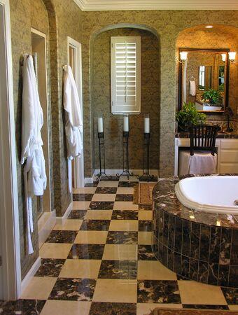 house robes: Classy bathroom interior
