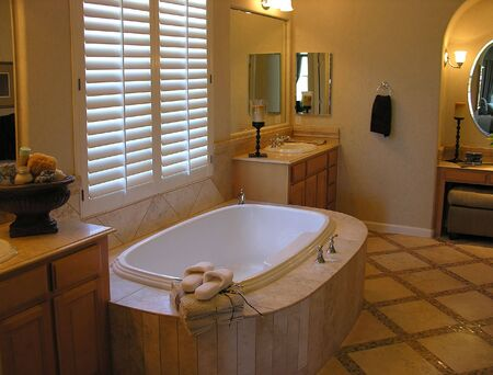 shutter: Interior modern bathroom
