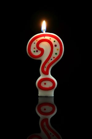 wicks: A birthday candle question mark - guess my age