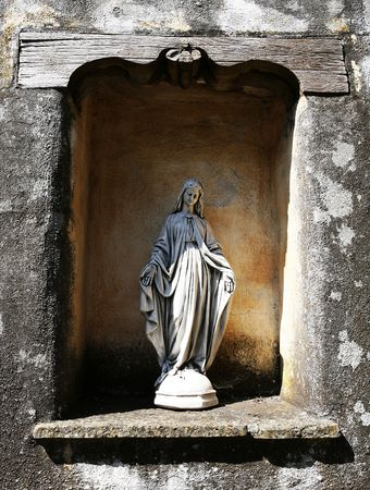 Stone Virgin Mary statue Stock Photo - 498752