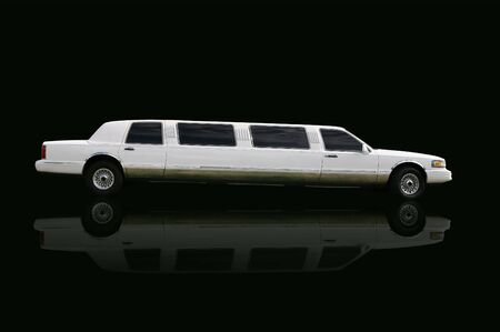 Limousine over black photo
