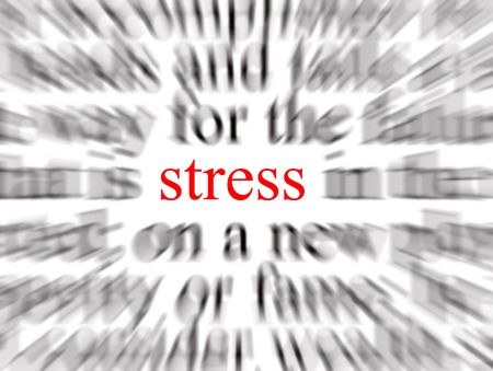 tenseness: Blurred text with a focus on stress