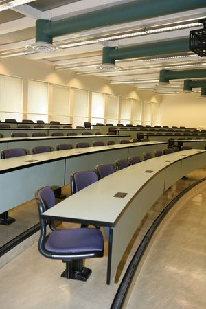 to attend: Empty classroom (Focus in the middle of the class)
