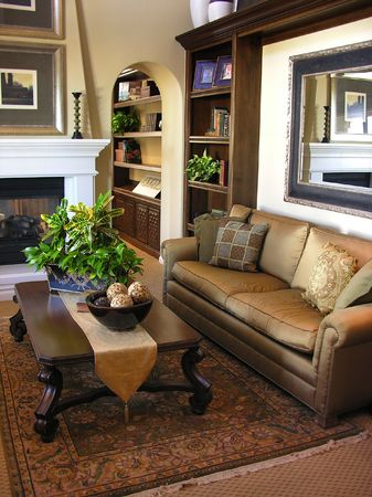 Beautiful living room interior photo