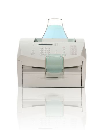 scan paper: Printer, Scanner, Fax, and Copier over white