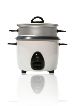 rice cooker: Rice cooker over white