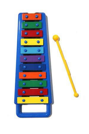 xylophone: Isolated xylophone Stock Photo
