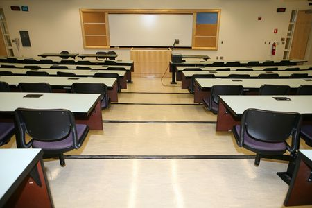 Classroom interior from above photo