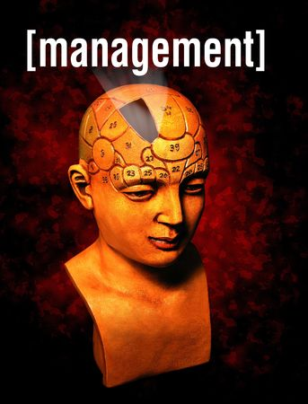 A psychology model highlighting the management section of the brain Stock Photo - 603434