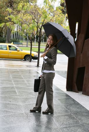A travelling woman on the way to her taxi Stock Photo - 607689