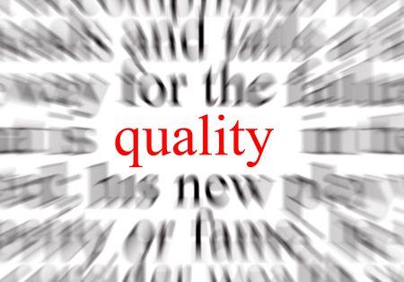 exceeding: Una imagen conceptual que representa un foco en la calidad