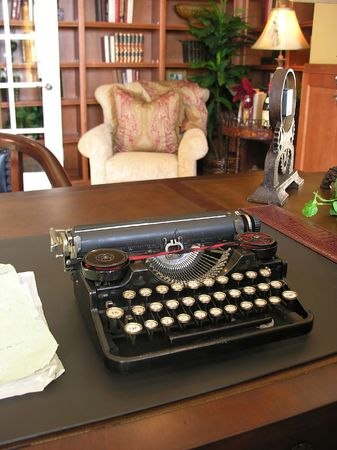 An antique typewriter in a home office Stock Photo - 639190