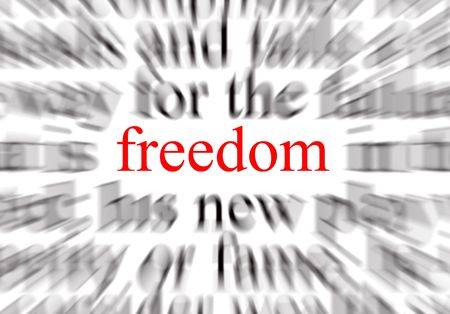 A conceptual image representing a focus on freedom