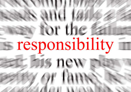accountability: Blurred text with a focus on responsibility