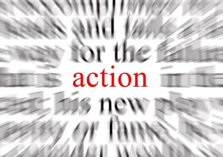 A conceptual image representing a focus on action